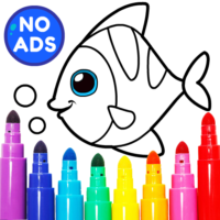 Learning & Coloring Game for Kids & Preschoolers  APKs (Mod) Download – for android
